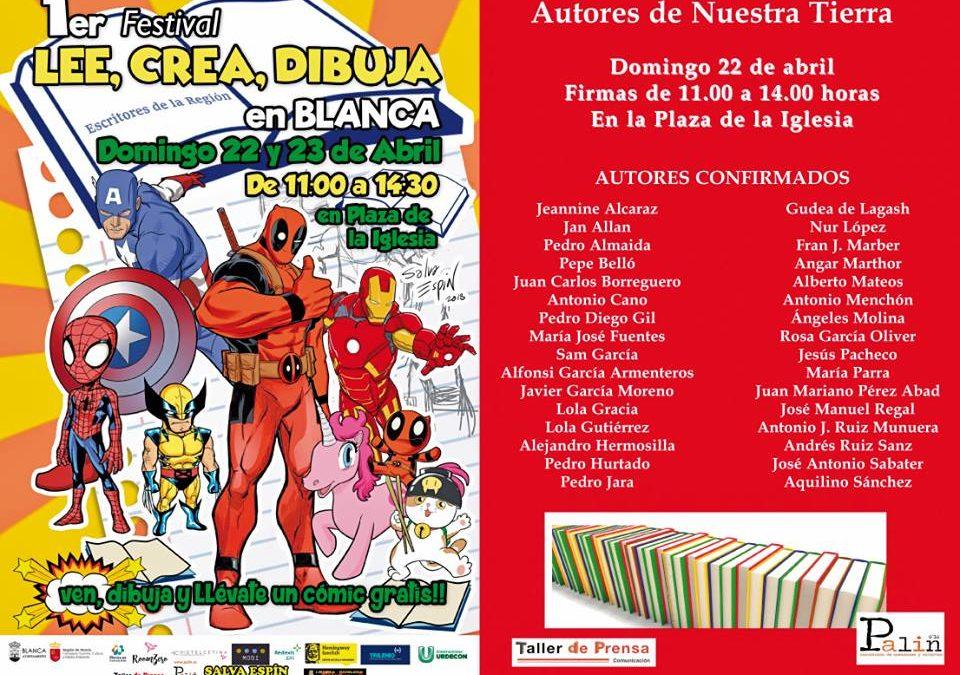 Firma de libros en Blanca (Murcia), 22 Abril.